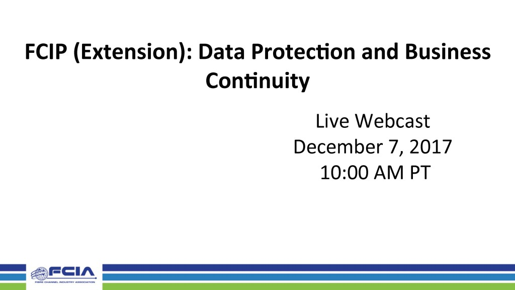 FCIP (Extension): Data Protection and Business Continuity