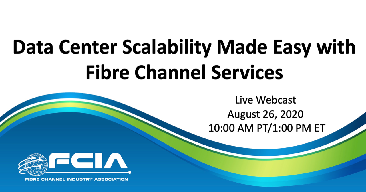 Data Center Scalability Made Easy with Fibre Channel Services